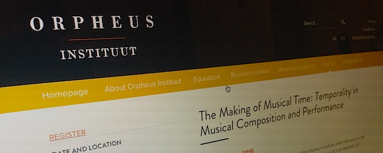 Presentation at Orpheus Institute